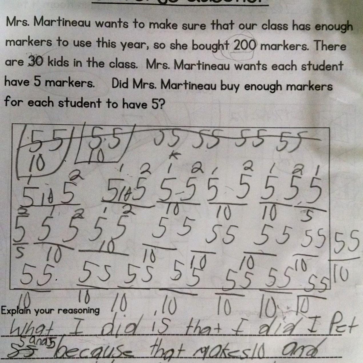 Student Problem Solving Strategies- Second Grade